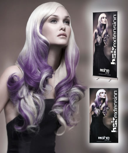Signage And Package Design Products: MATRIX, She by SO.CAP USA Hair Extensions Photographer: Babak, Make-Up: Merrell Hollis