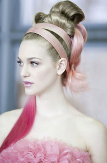 She Usa By So.Cap Hair Extensions, Pink Hair For Hope Products: MATRIX Photographer: Babak