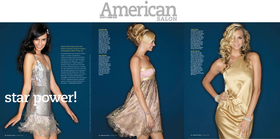 American Salon Photographer: Albert Sanchez Products Matrix – She by SO.CAP. USA Hair Extensions